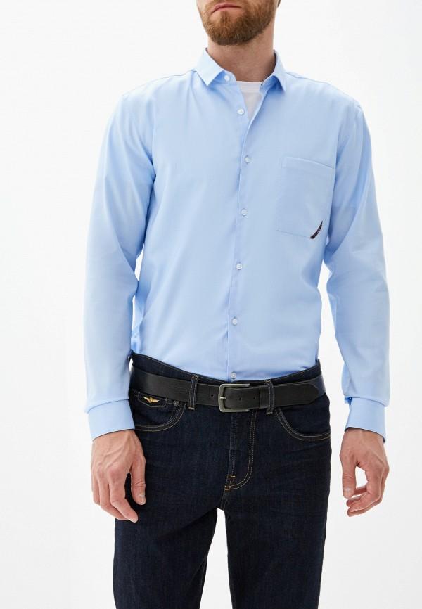 Фото - мужскую рубашку Hugo Hugo Boss голубого цвета