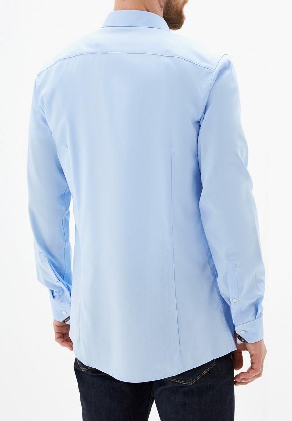 Фото 3 - мужскую рубашку Hugo Hugo Boss голубого цвета
