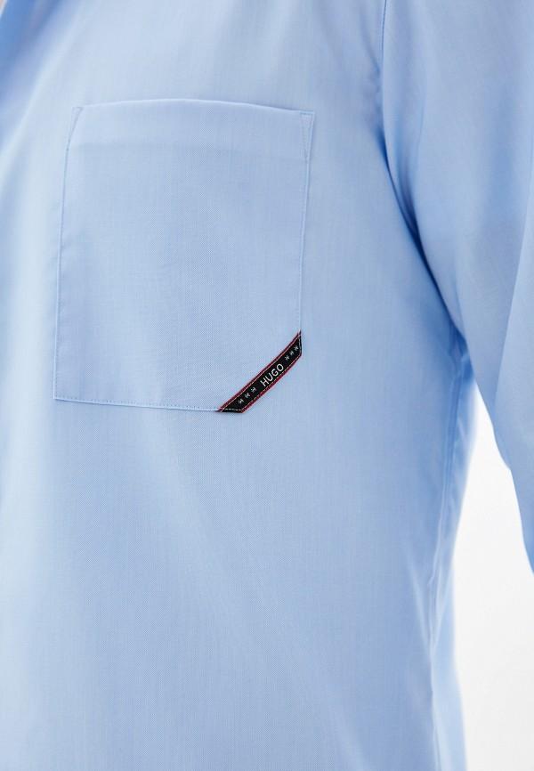 Фото 4 - мужскую рубашку Hugo Hugo Boss голубого цвета
