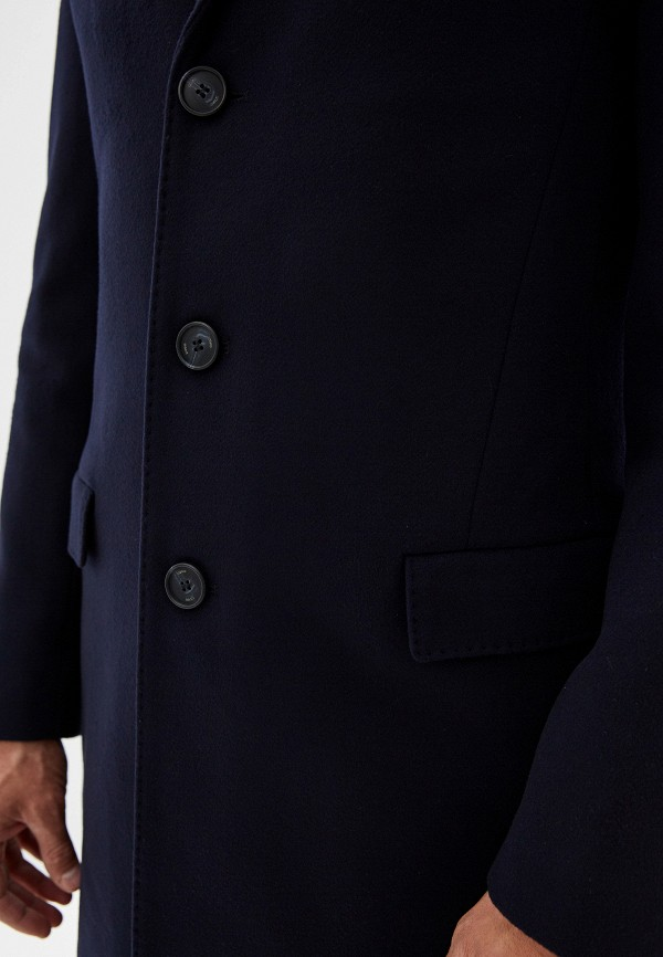 Фото 4 - мужскую рубашку Hugo синего цвета