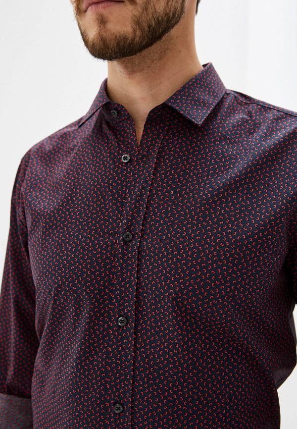Фото 9 - мужскую рубашку Hugo синего цвета
