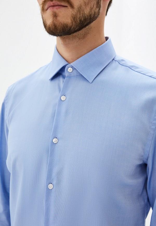 Фото 5 - мужскую рубашку Hugo голубого цвета