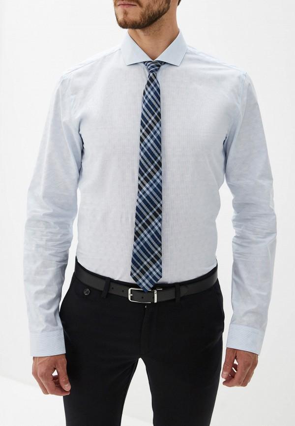 Фото - мужскую рубашку Hugo голубого цвета