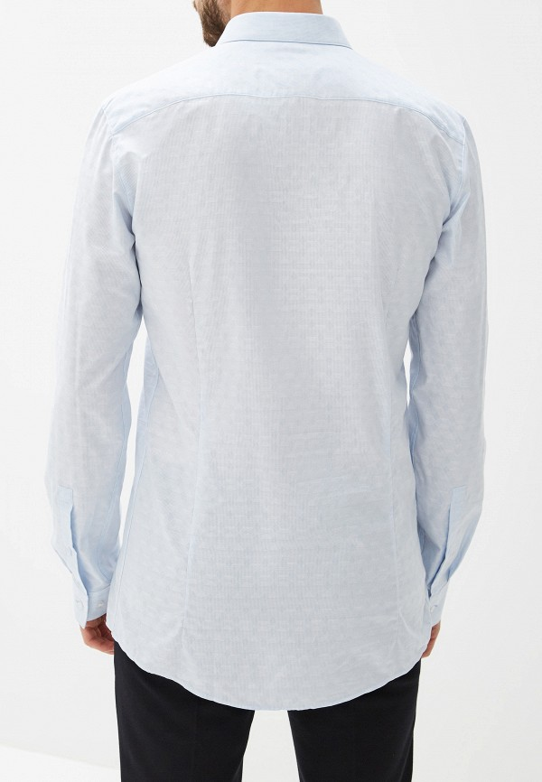 Фото 3 - мужскую рубашку Hugo голубого цвета
