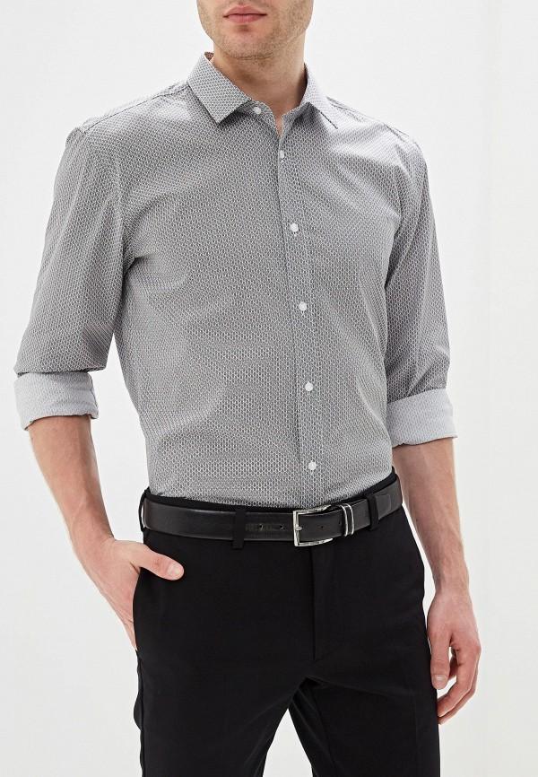 мужская рубашка hugo boss, серая