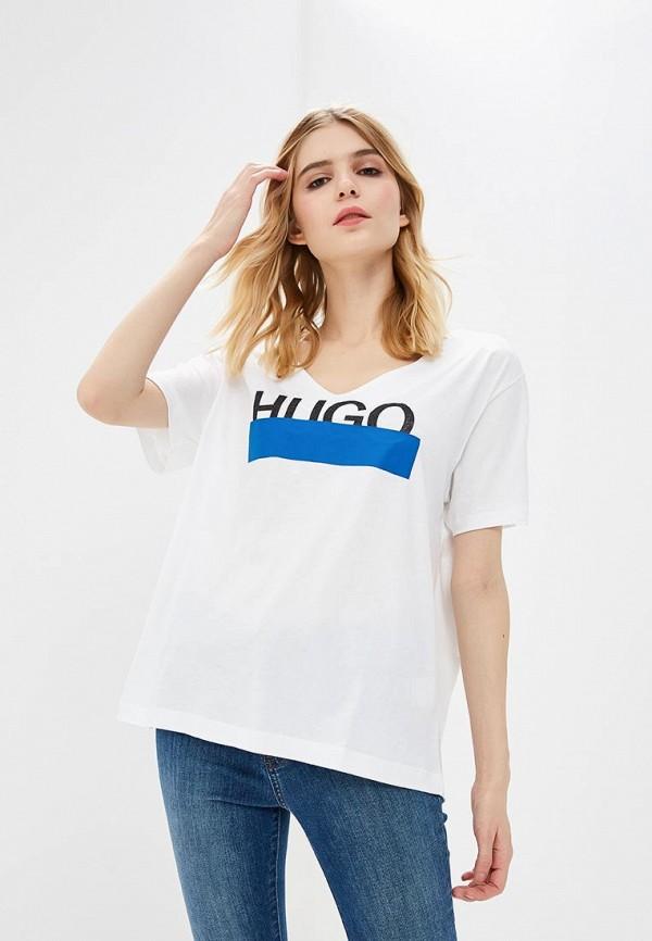 женская футболка hugo boss, белая