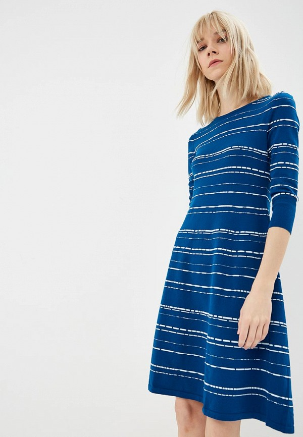 женское повседневные платье hugo boss, синее