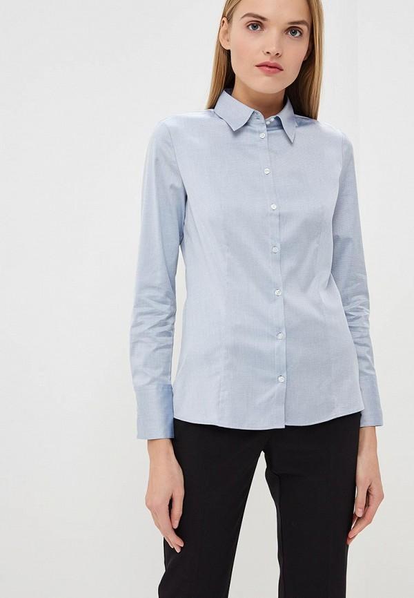 женская рубашка с длинным рукавом hugo boss, голубая