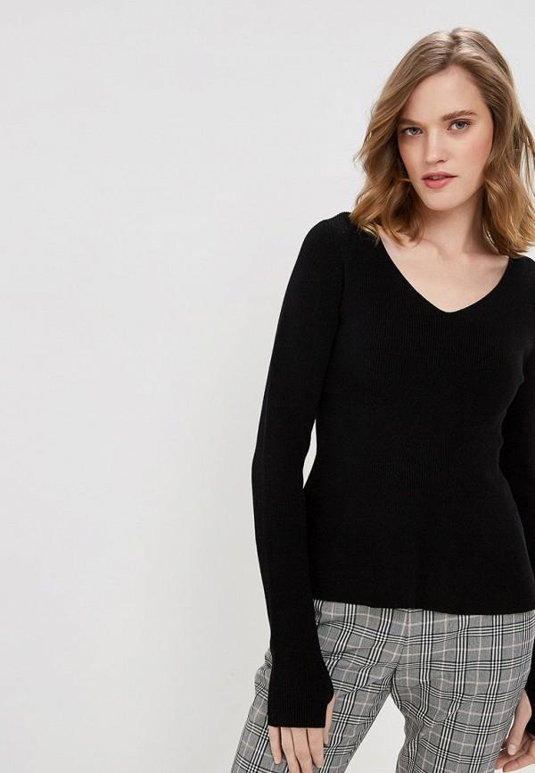 женский пуловер hugo boss, черный