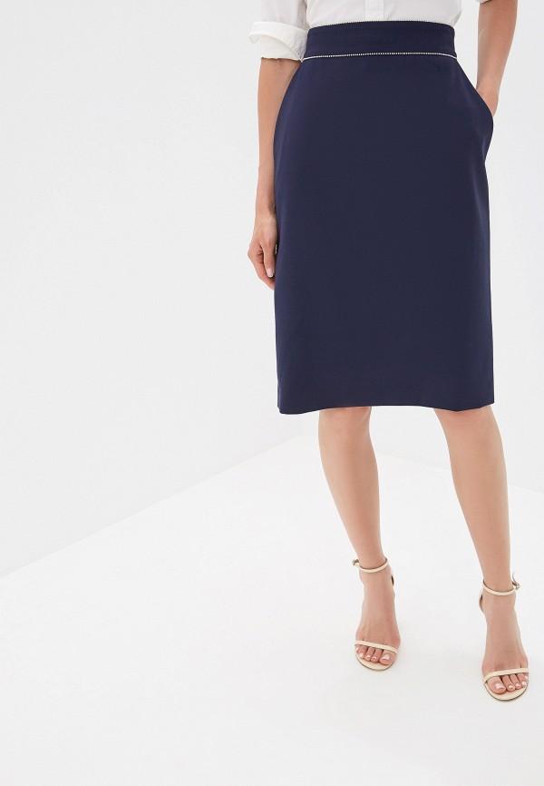 женская прямые юбка hugo boss, синяя