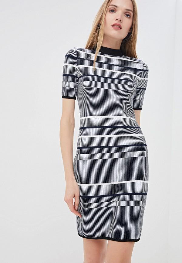 Фото - женское повседневное платье Hugo синего цвета