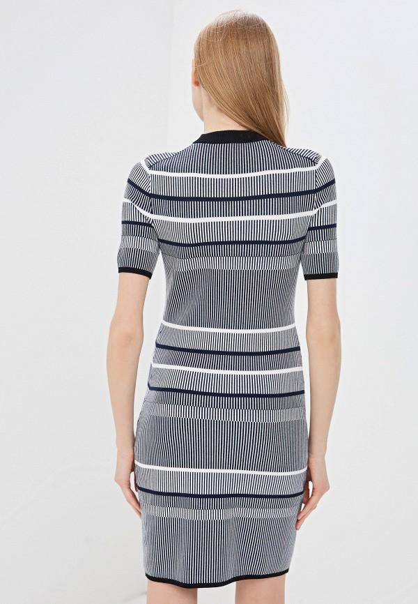 Фото 3 - женское повседневное платье Hugo синего цвета