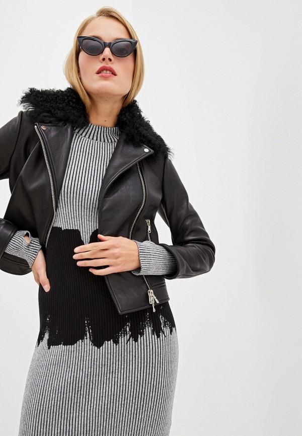 женская куртка hugo, черная
