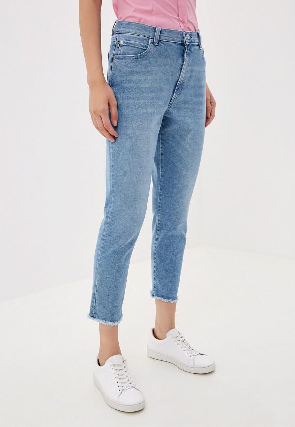 женские джинсы hugo boss, голубые