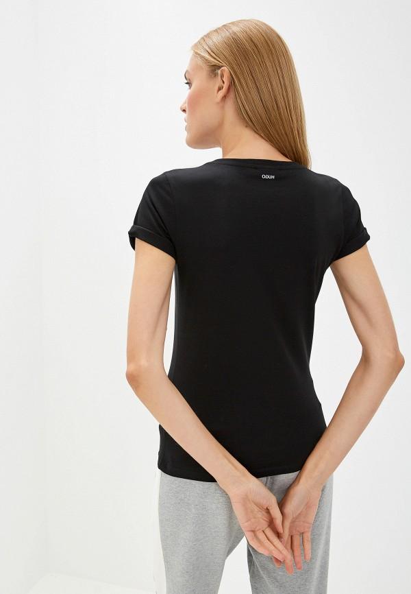 Фото 3 - женскую футболку Hugo Hugo Boss черного цвета