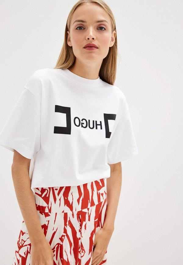 Фото - женскую футболку Hugo белого цвета