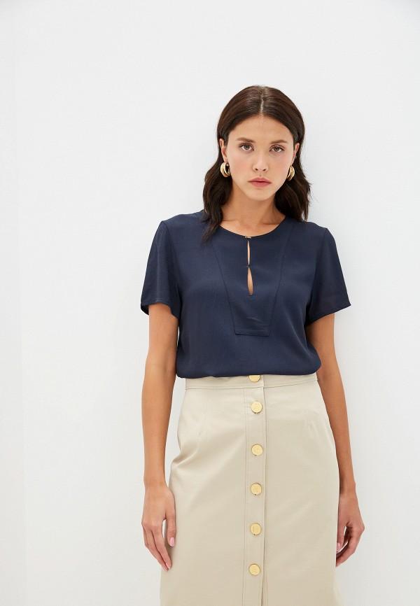 женская блузка hugo boss, синяя