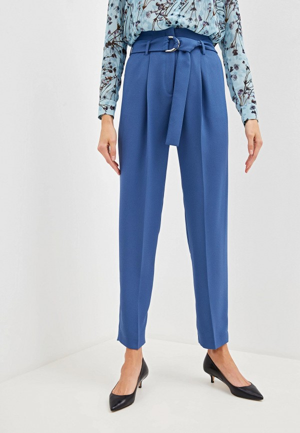 женские классические брюки hugo boss, синие