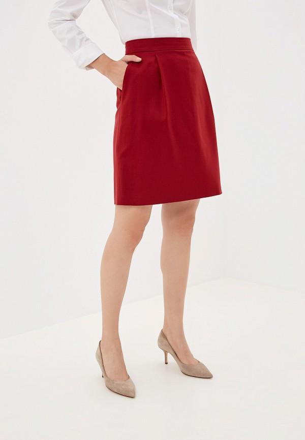 женская юбка hugo boss, красная