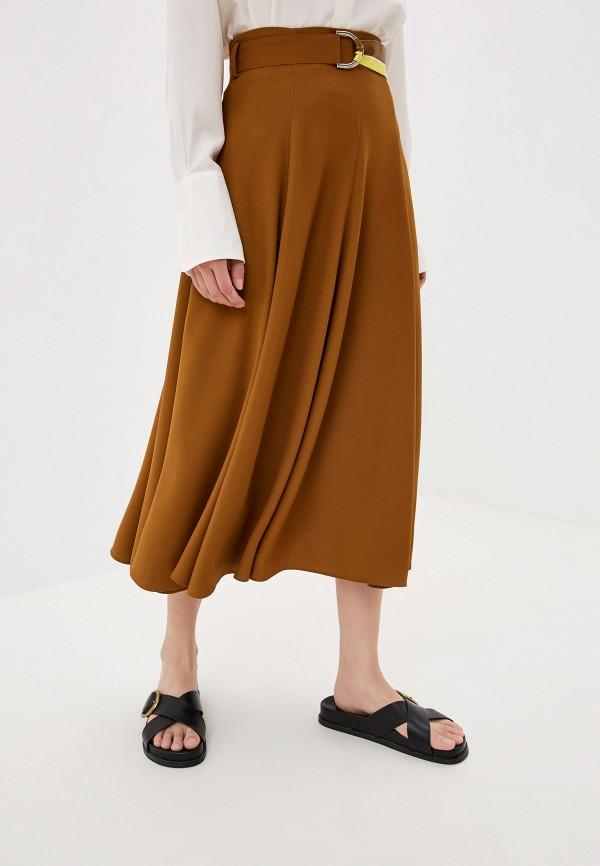 женская юбка hugo boss, коричневая