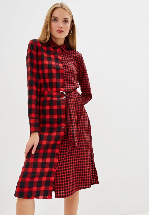 женское платье hugo, красное