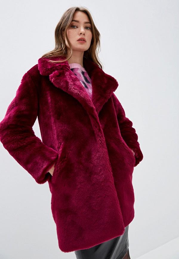 женская шуба iblues, розовая