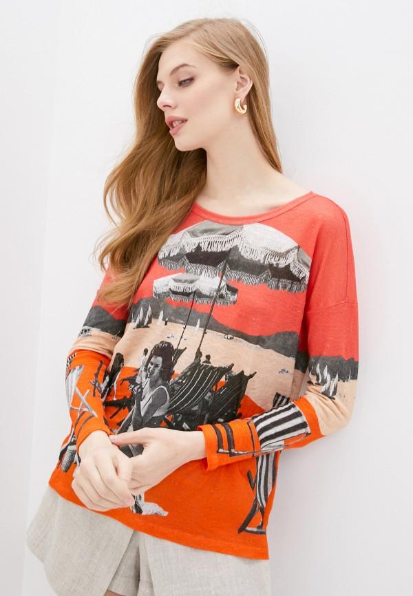 женский джемпер iblues, оранжевый