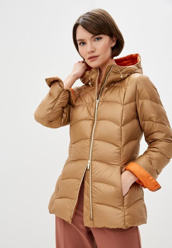 женская утепленные куртка iblues, золотая