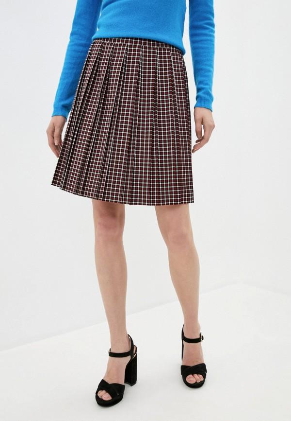 женская плиссированные юбка iblues, бордовая