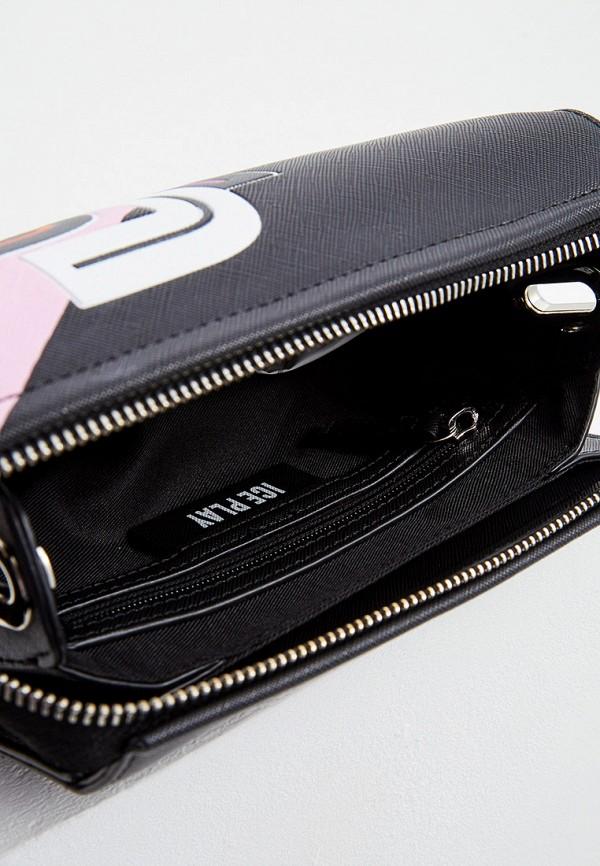 Фото 4 - женскую сумку Ice Play черного цвета