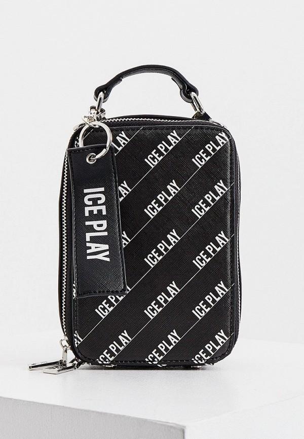 женская сумка ice play, черная