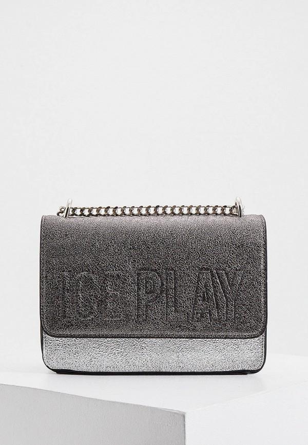 женская сумка ice play, серебряная