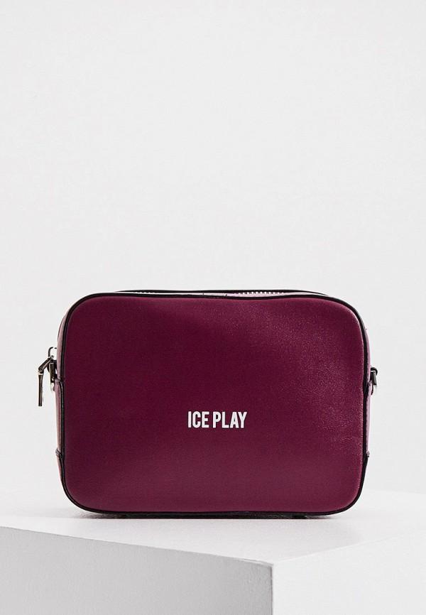 женская сумка ice play, фиолетовая