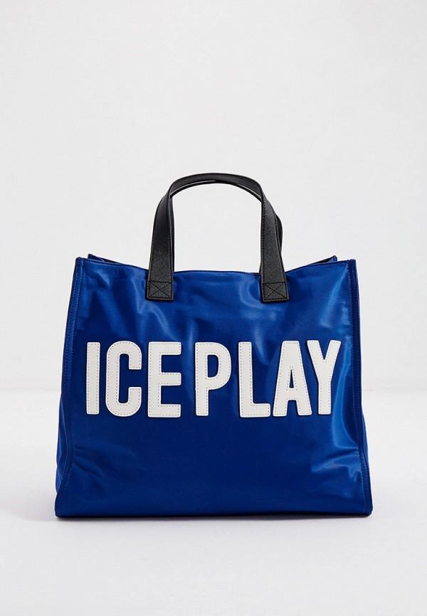 женская сумка ice play, синяя
