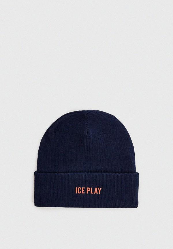 мужская шапка ice play, синяя