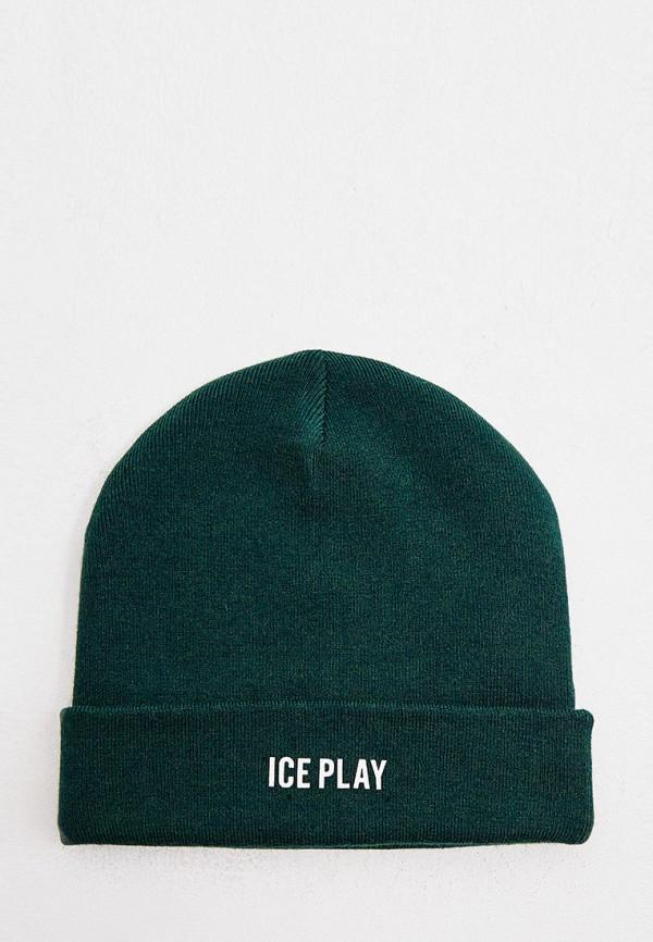 мужская шапка ice play, зеленая
