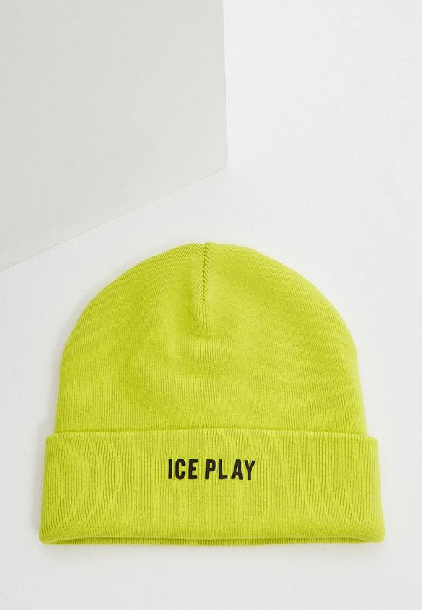 женская шапка ice play, зеленая