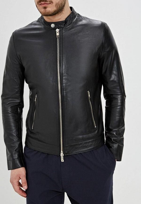 Фото - Куртку кожаная Ice Play черного цвета