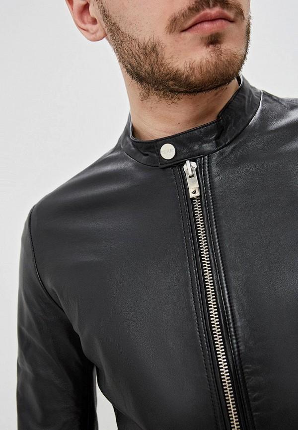 Фото 5 - Куртку кожаная Ice Play черного цвета