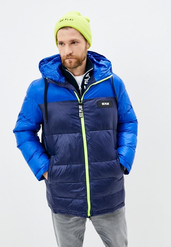 мужская куртка ice play, синяя
