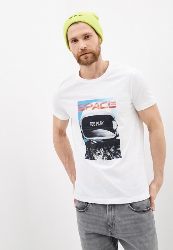 мужская футболка ice play, белая