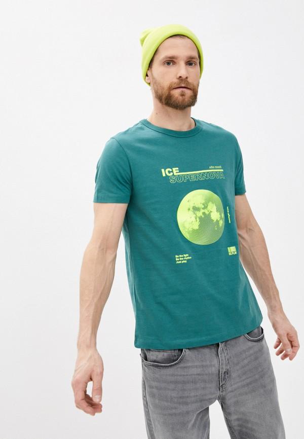 мужская футболка ice play, зеленая