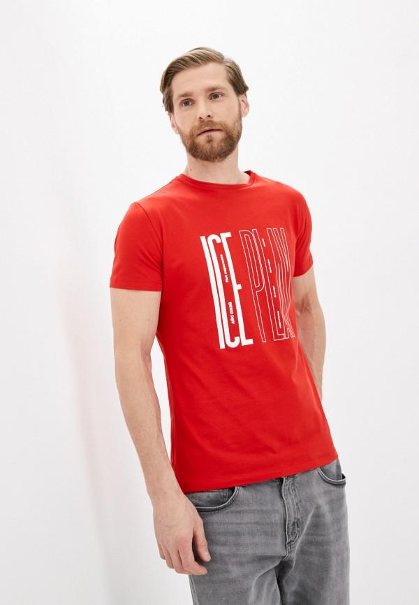 мужская футболка ice play, красная