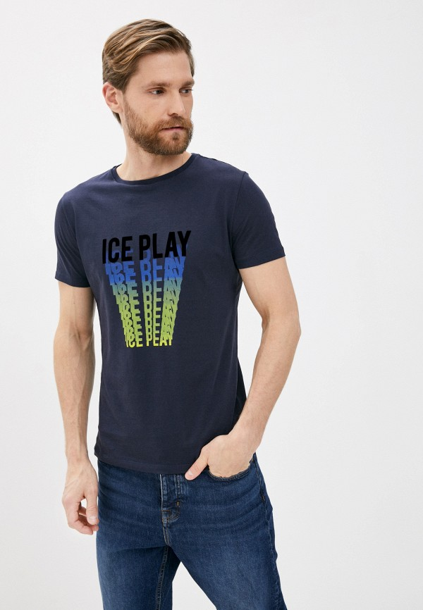 мужская футболка ice play, синяя