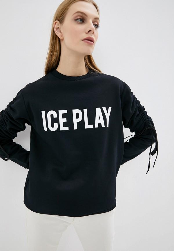 женский свитшот ice play, черный