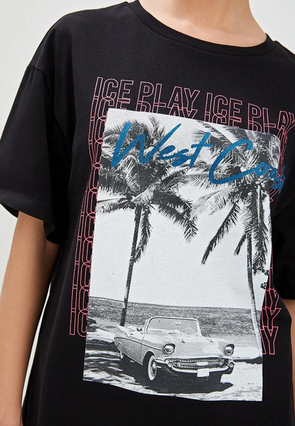 Фото 4 - женскую футболку Ice Play черного цвета