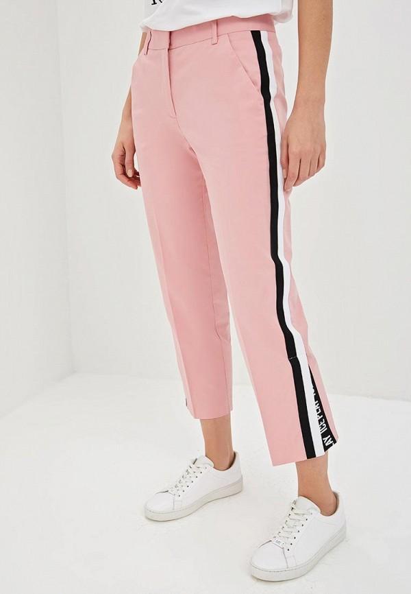 женские повседневные брюки ice play, розовые