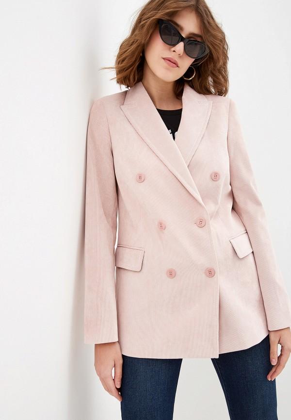 женский пиджак ice play, розовый