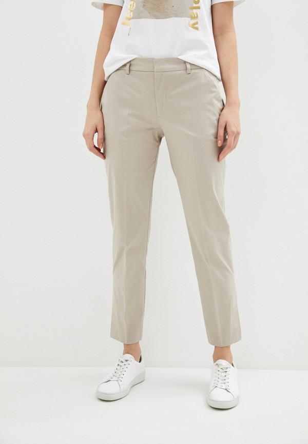 женские классические брюки ice play, бежевые