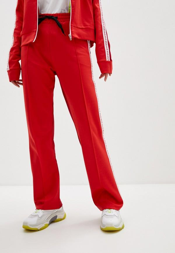 женские повседневные брюки ice play, красные